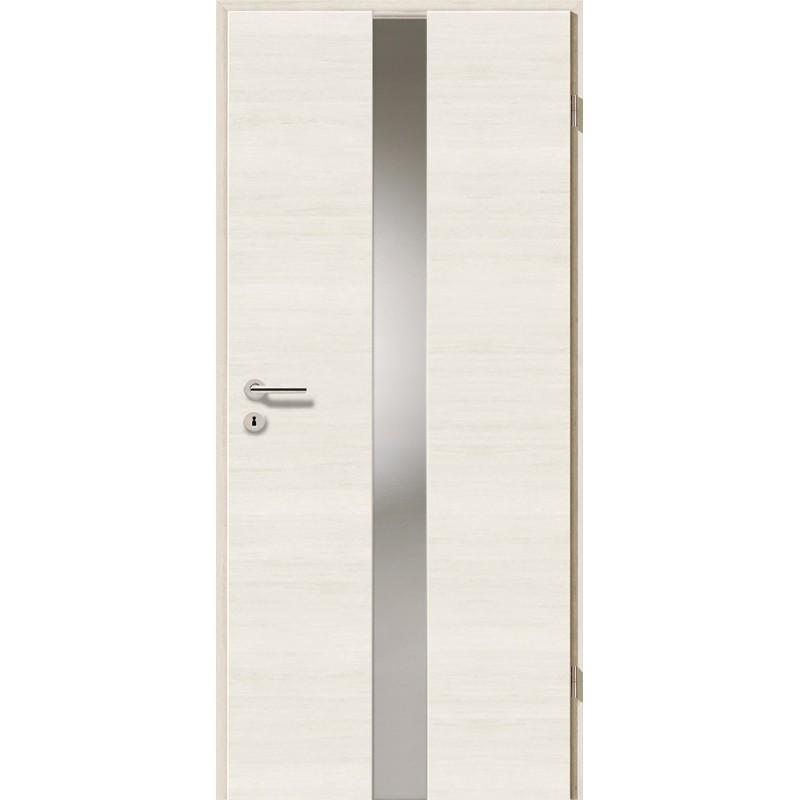 Holztüren - Türblatt - Pinie Weiß Cross mit Lichtband 2201
