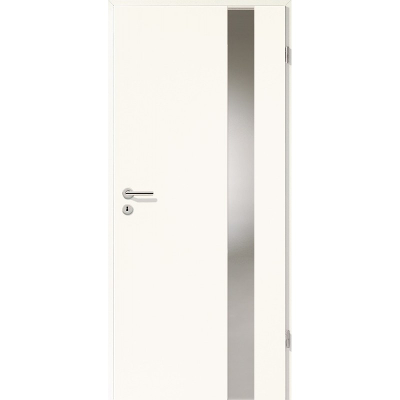 Holztüren - Türblatt - Arctic Weiß mit Lichtband 2203