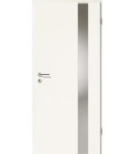 Türblatt - Uni Weiß mit Lichtband 2203