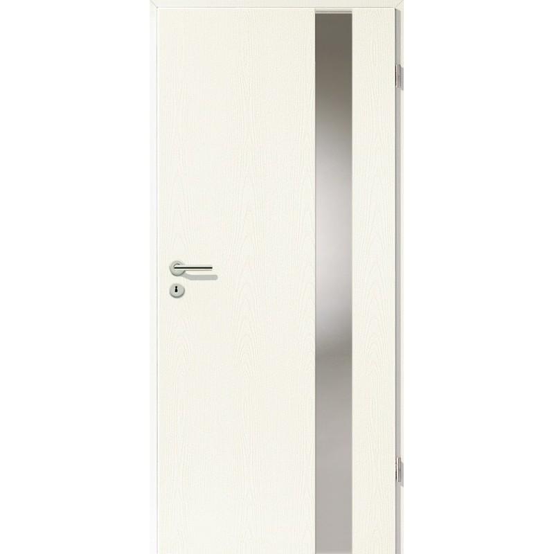 Holztüren - Türblatt - Esche Weiß mit Lichtband 2203