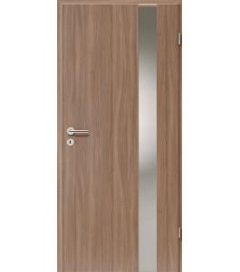 Holztüren - Türblatt - Nussbaum mit Lichtband 2203