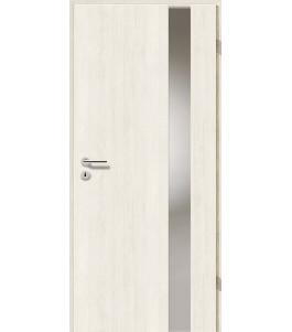 Holztüren - Türblatt - Pinie Weiß mit Lichtband 2203