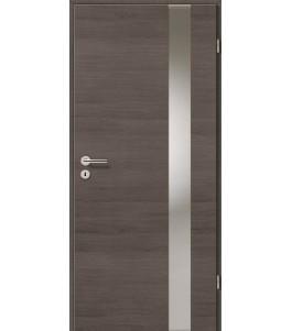 Holztüren - Türblatt - Pinie Grau Cross mit Lichtband 2203