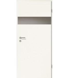 Türblatt - Uni Weiß mit Lichtband 2204