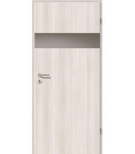 Holztüren - Türblatt - Lärche Weiß mit Lichtband 2204