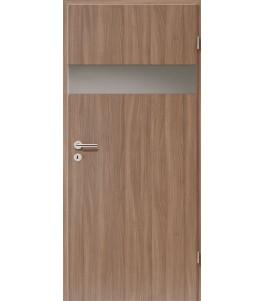 Holztüren - Türblatt - Nussbaum mit Lichtband 2204