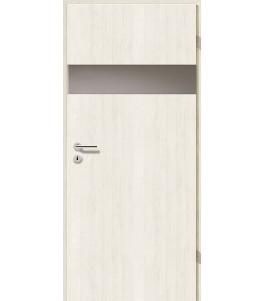 Türblatt - Pinie Weiß mit Lichtband 2204