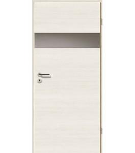 Türblatt - Pinie Weiß Cross mit Lichtband 2204