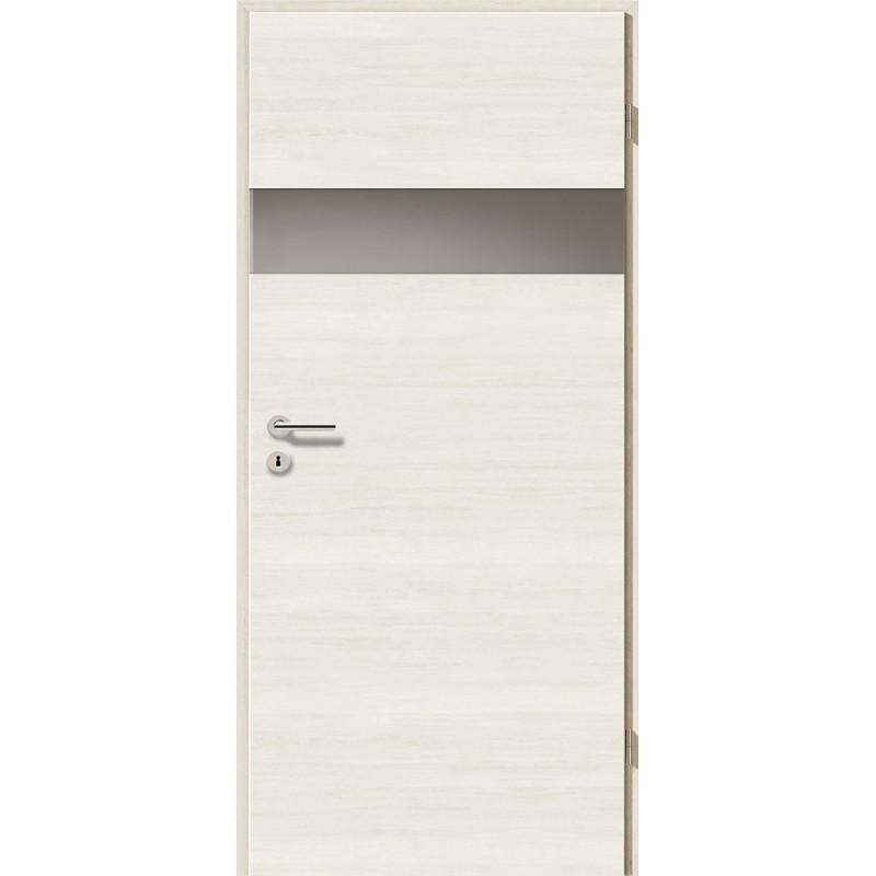 Holztüren - Türblatt - Pinie Weiß Cross mit Lichtband 2204