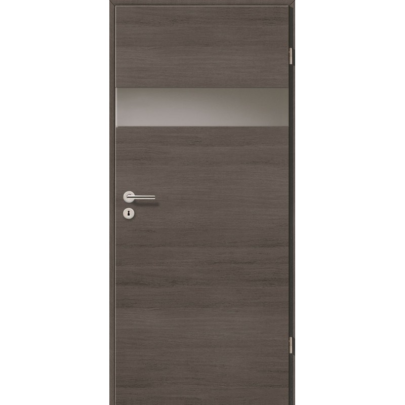 Holztüren - Türblatt - Pinie Grau Cross mit Lichtband 2204