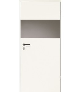 Türblatt - Uni Weiß mit Lichtband 2209