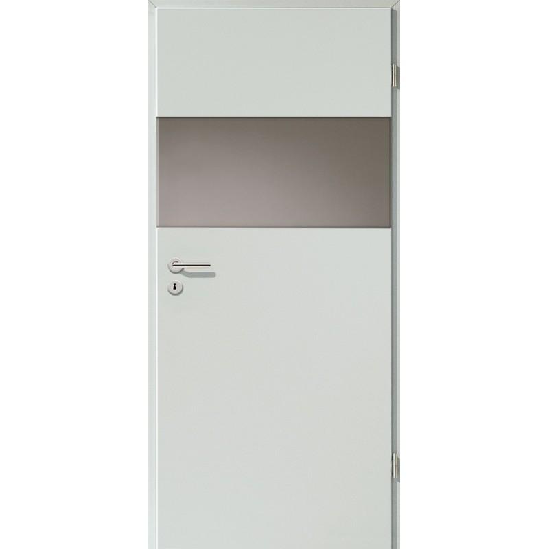 Holztüren - Türblatt - Hellgrau mit Lichtband 2209