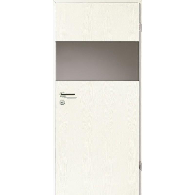 Holztüren - Türblatt - Esche Weiß mit Lichtband 2209