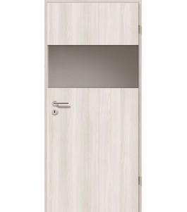 Holztüren - Türblatt - Lärche Weiß mit Lichtband 2209