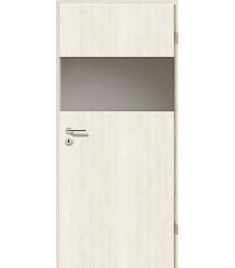 Türblatt - Pinie Weiß mit Lichtband 2209