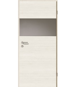 Türblatt - Pinie Weiß Cross mit Lichtband 2209