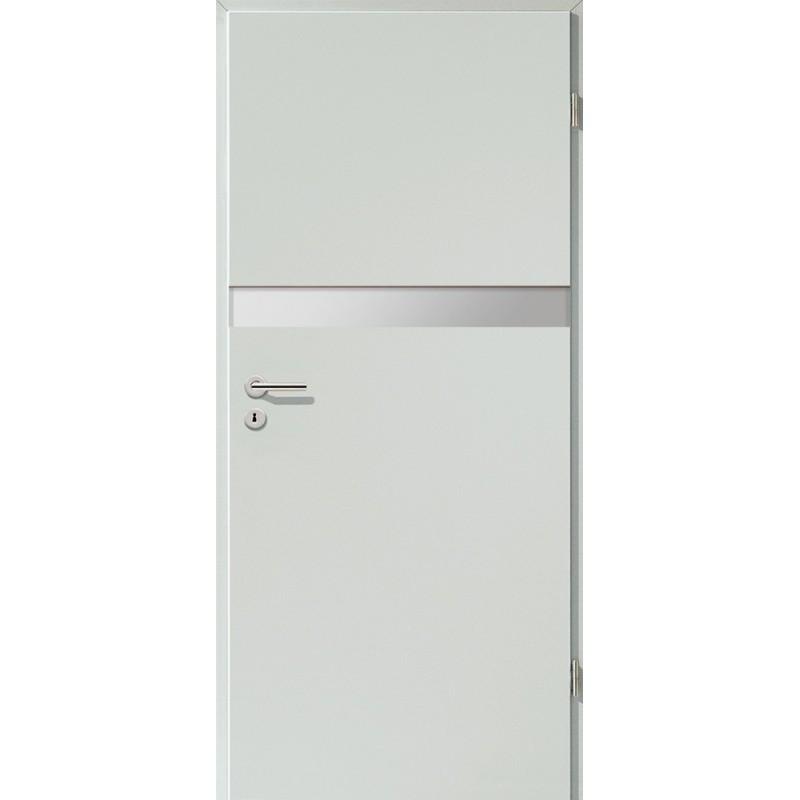 Holztüren - Türblatt - Hellgrau mit Lichtband 2211