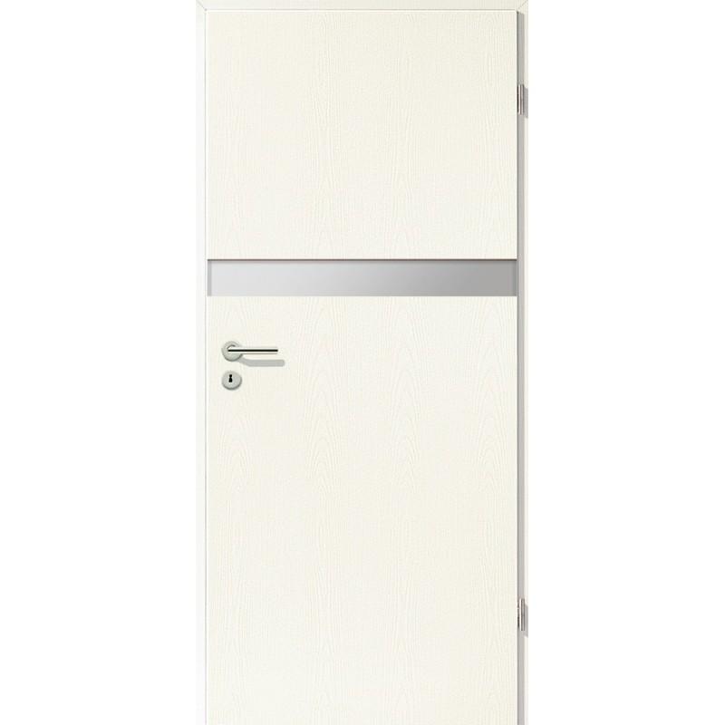 Holztüren - Türblatt - Esche Weiß mit Lichtband 2211