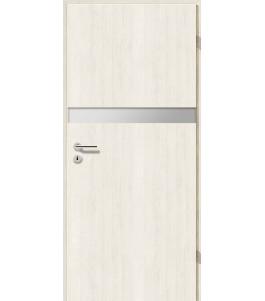 Türblatt - Pinie Weiß mit Lichtband 2211