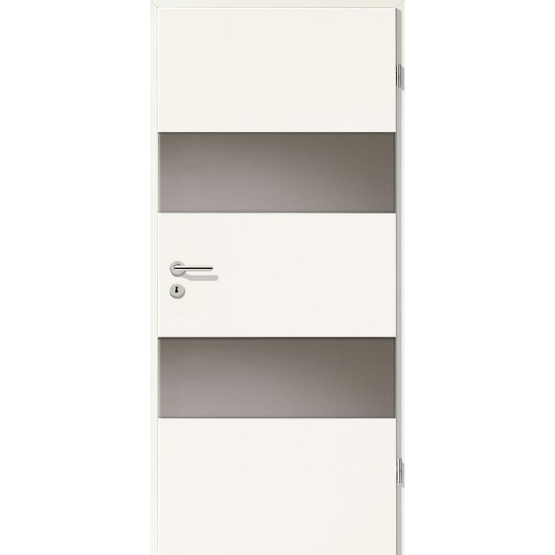 Holztüren - Türblatt - Uni Weiß mit Lichtband 2212