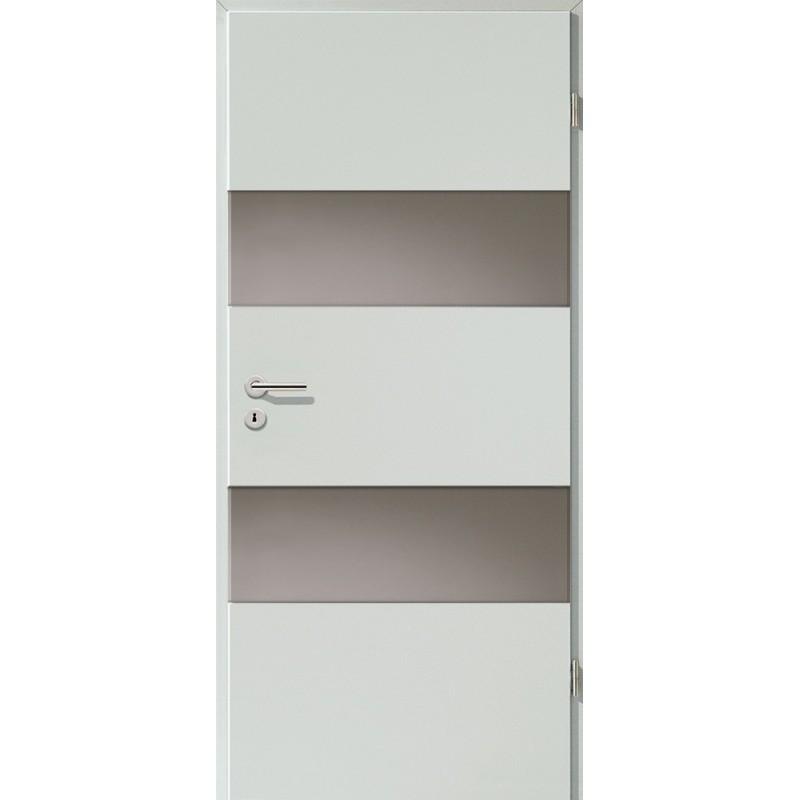 Holztüren - Türblatt - Hellgrau mit Lichtband 2212
