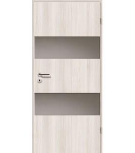 Holztüren - Türblatt - Lärche Weiß mit Lichtband 2212