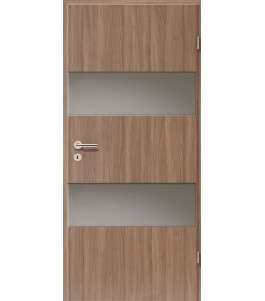 Holztüren - Türblatt - Nussbaum mit Lichtband 2212