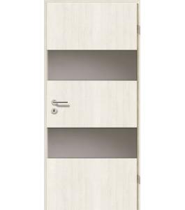 Holztüren - Türblatt - Pinie Weiß mit Lichtband 2212