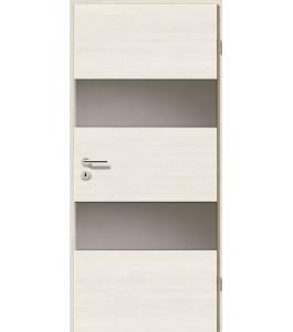 Türblatt - Pinie Weiß Cross mit Lichtband 2212