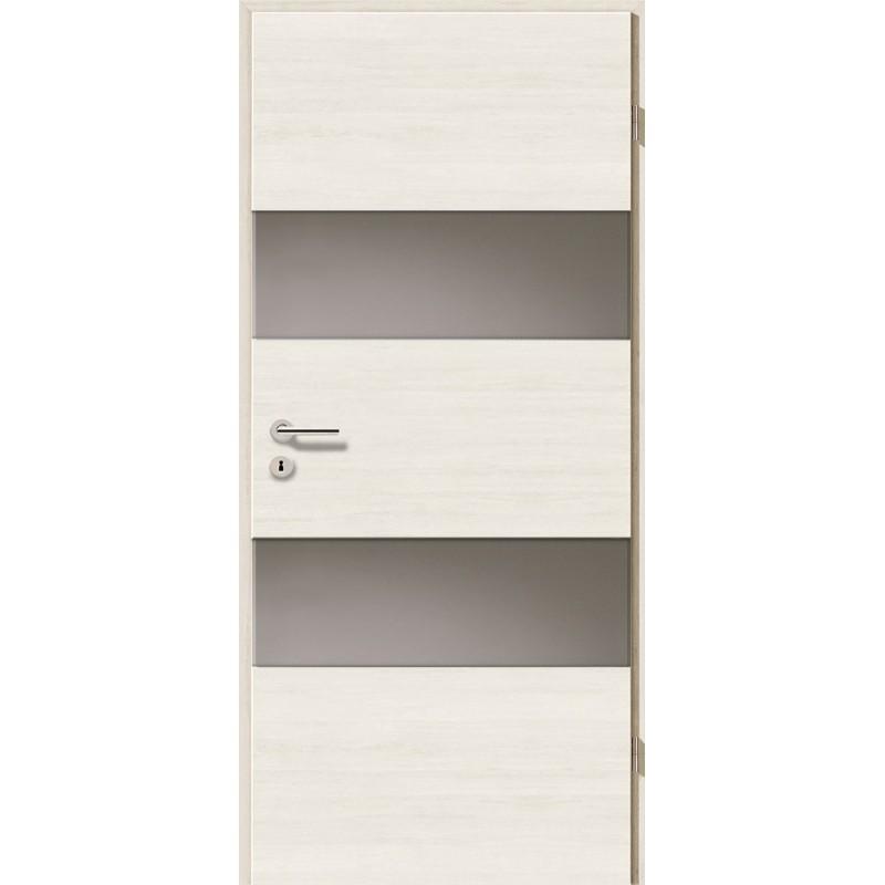 Holztüren - Türblatt - Pinie Weiß Cross mit Lichtband 2212