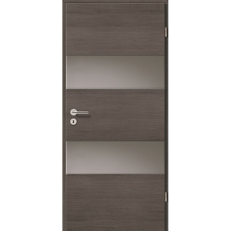 Holztüren - Türblatt - Pinie Grau Cross mit Lichtband 2212