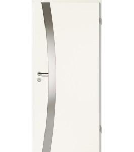 Holztüren - Türblatt - Uni Weiß mit Lichtband 2302