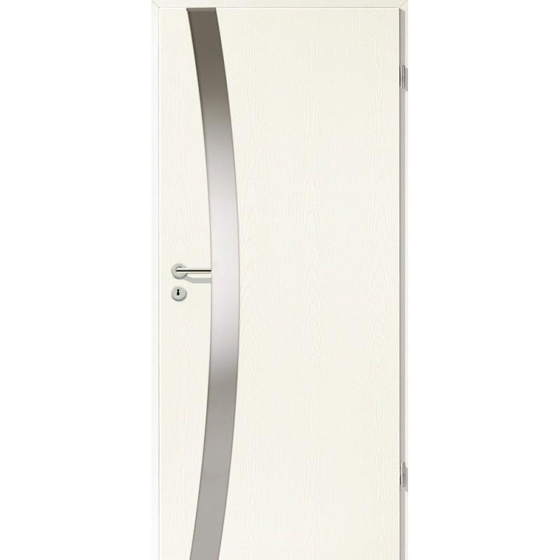 Holztüren - Türblatt - Esche Weiß mit Lichtband 2302