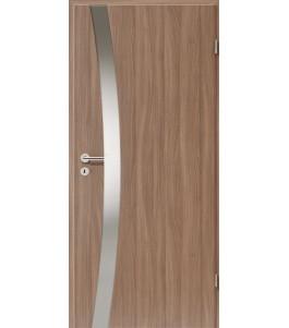 Holztüren - Türblatt - Nussbaum mit Lichtband 2302