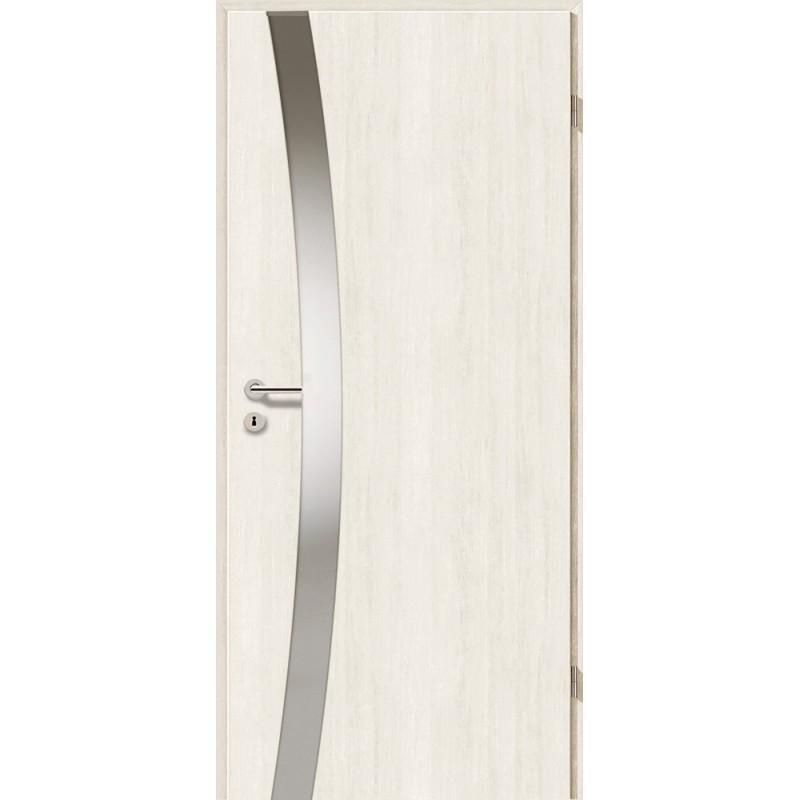 Holztüren - Türblatt - Pinie Weiß mit Lichtband 2302
