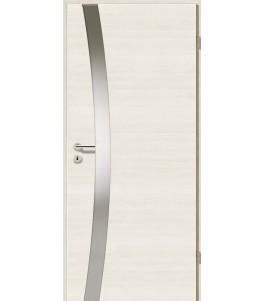 Holztüren - Türblatt - Pinie Weiß Cross mit Lichtband 2302