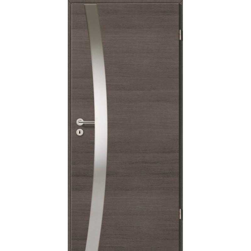 Holztüren - Türblatt - Pinie Grau Cross mit Lichtband 2302