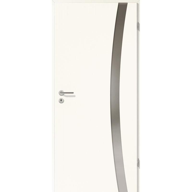 Holztüren - Türblatt - Arctic Weiß mit Lichtband 2303