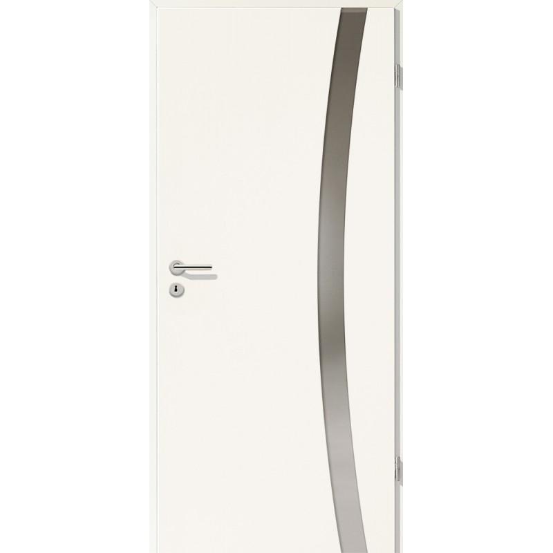 Holztüren - Türblatt - Uni Weiß mit Lichtband 2303