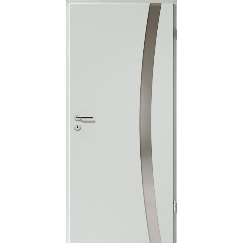 Holztüren - Türblatt - Hellgrau mit Lichtband 2303