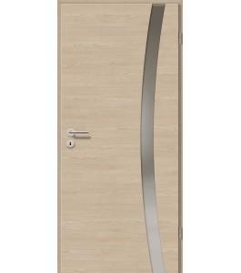 Holztüren - Türblatt - Platineiche Cross mit Lichtband 2303