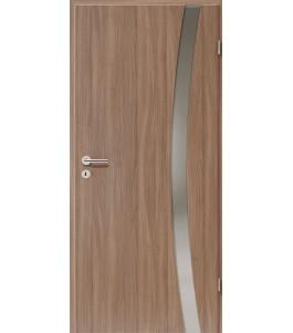 Holztüren - Türblatt - Nussbaum mit Lichtband 2303