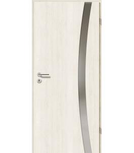Türblatt - Pinie Weiß mit Lichtband 2303