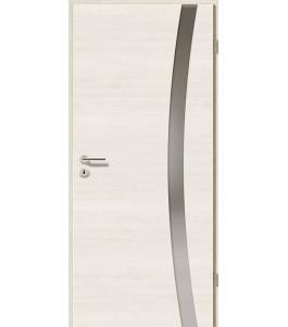 Türblatt - Pinie Weiß Cross mit Lichtband 2303