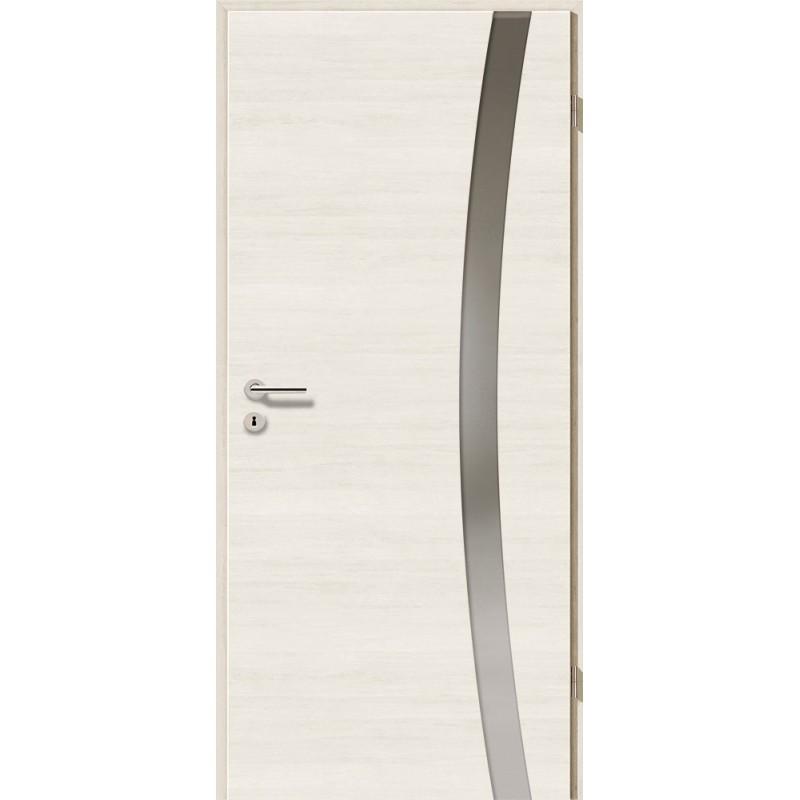 Holztüren - Türblatt - Pinie Weiß Cross mit Lichtband 2303