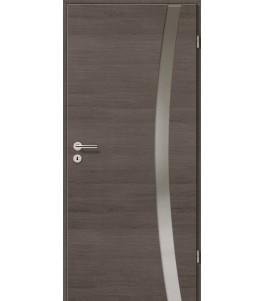 Türblatt - Pinie Grau Cross mit Lichtband 2303