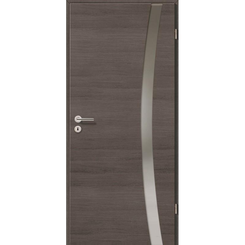 Holztüren - Türblatt - Pinie Grau Cross mit Lichtband 2303