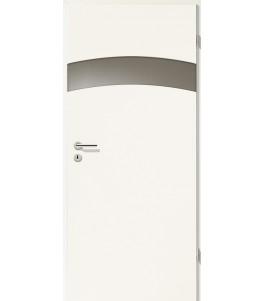 Türblatt - Uni Weiß mit Lichtband 2304-1LB