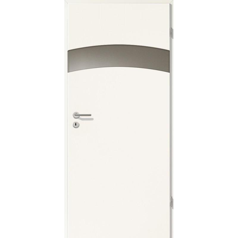 Holztüren - Türblatt - Uni Weiß mit Lichtband 2304-1LB