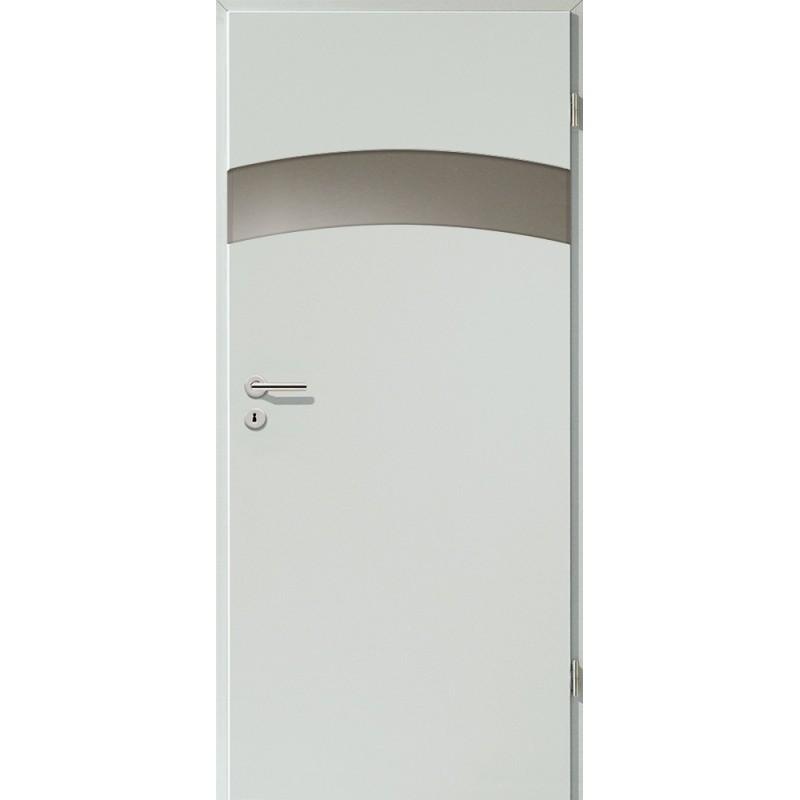 Holztüren - Türblatt - Hellgrau mit Lichtband 2304-1LB